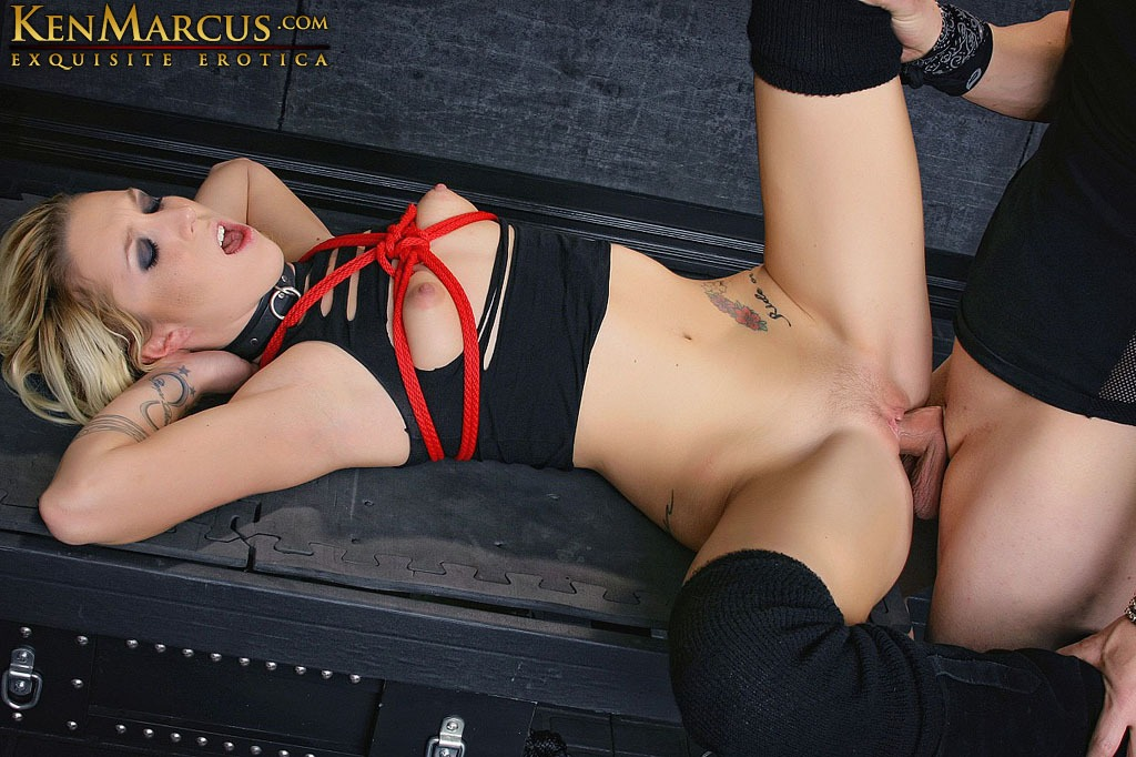 Maia Davis, Boy/Girl, blowjob, Porn Stars, Blonde hair, Boots, Tattoos, Domination/submission, Bondage, Rope Bondage, Nipple Clamps, Labia Clamps, Floggers, Vibrators, Bound Orgasm, Dungeon, Ken Marcus