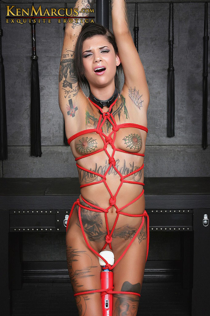 Bonnie Rotten, Solo Girl, Fetish Models, Brunette Hair, Small Breasts, Tattoos, Domination/Submission, Pole Dancing, Bondage, Rope Bondage, Vibrators, Forced Orgasms, Dungeon